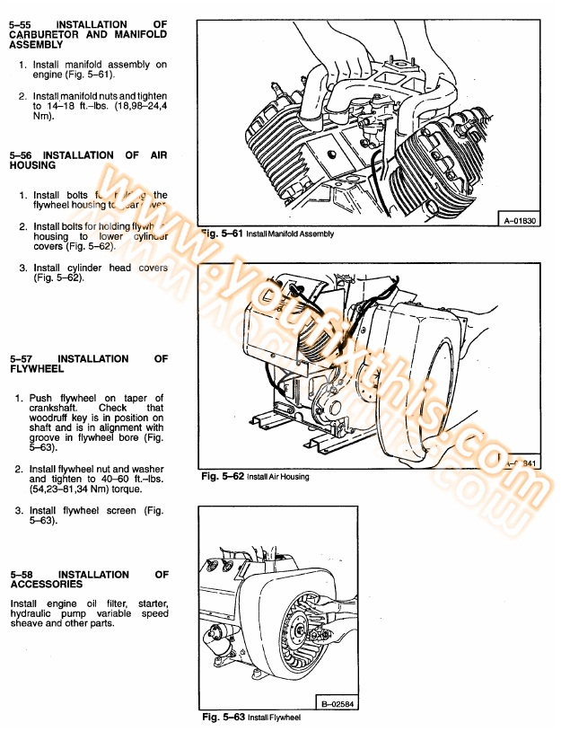 Bobcat 741 742 742b Repair Manual  Skid Steer Loader