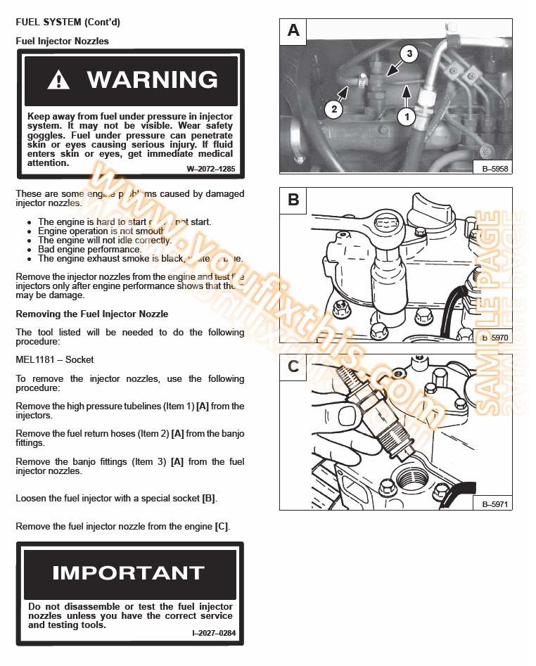 Bobcat 863 863 High Flow Repair Manual [Skid Steer Loader