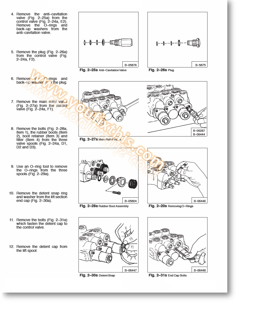 Bobcat 641 642 642B 643 Repair Manual [Skid Steer Loader]