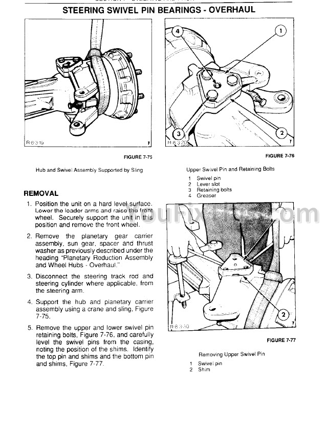 Ford New Holland 345d 445d 545d Repair Manual Tractor Loader