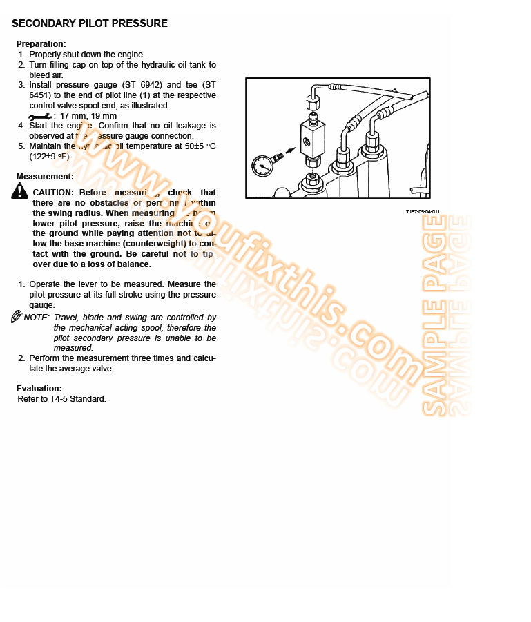 Hitachi EX200-5 (Japanese Domestic Version) Repair Manual