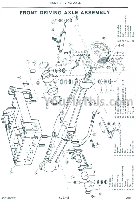 ford 4000 clutch parts diagram