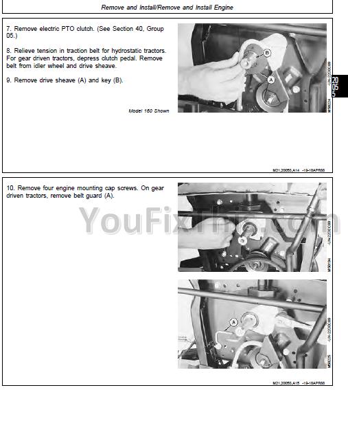 John Deere 130 160 165 175 180 185 Repair Technical Manual [Lawn
