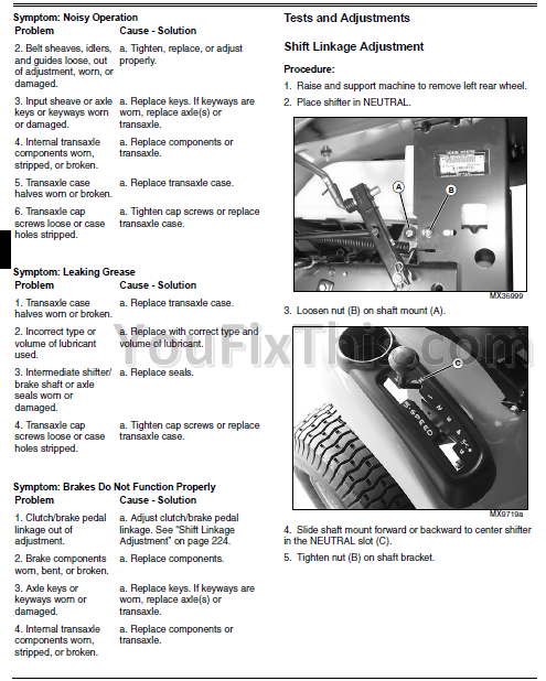 john deere x x x x x repair manual garden tractor preview