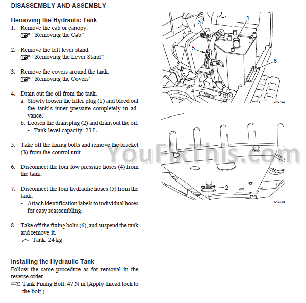 takeuchi tb215r repair manual mini excavator  youfixthis