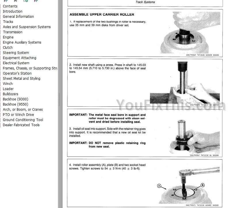 John Deere 450E 455E Repair Manual [Bulldozer Crawler Loader