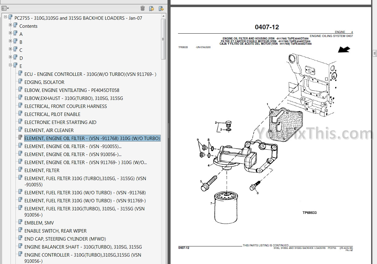 2017 01 25_14 57 49 john deere 310sg 315sg technical manual [backhoe loader] youfixthis john deere 310sg wiring diagram at bayanpartner.co