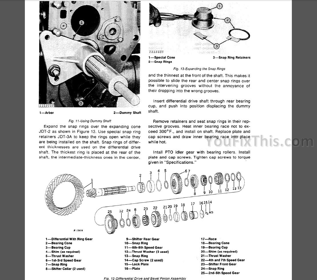 John Deere Jd500 C Repair Manual Loader Backhoe Youfixthis La140 Wiring Diagram