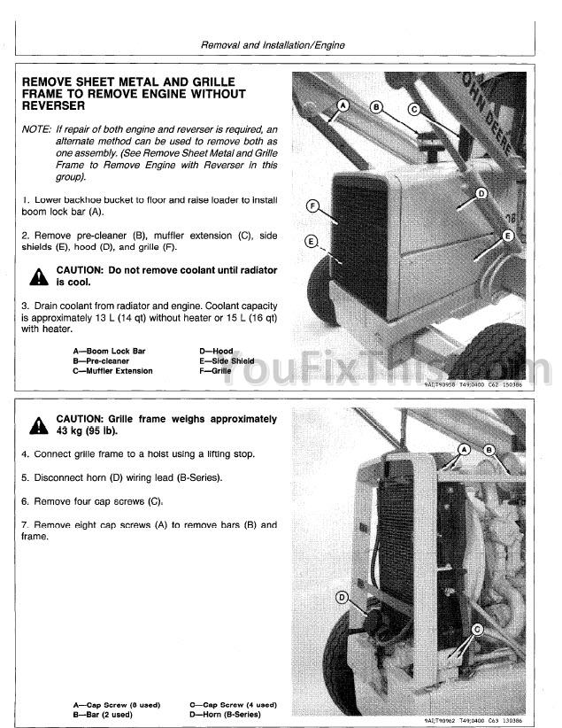 John Deere 410B 410C 510B 510C Repair Manual [Backhoe Loader ... on