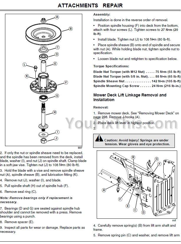 John Deere Lt133 Lt155 Lt166 Repair Manual  Lawn Tractors