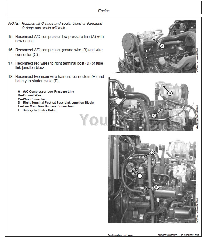 John Deere 5220 5320 5420 5520 Repair Manual  Tractor