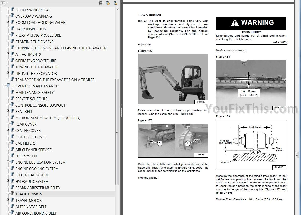 Bobcat E Series Operators and Maintenance Manuals Compact
