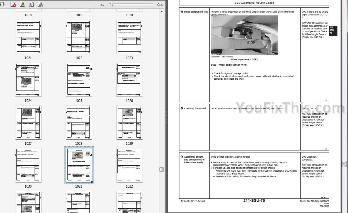 John Deere 6020 To 6920s Se Diagnostics Technical Manual Tractor 6320 Wiring Diagram Description