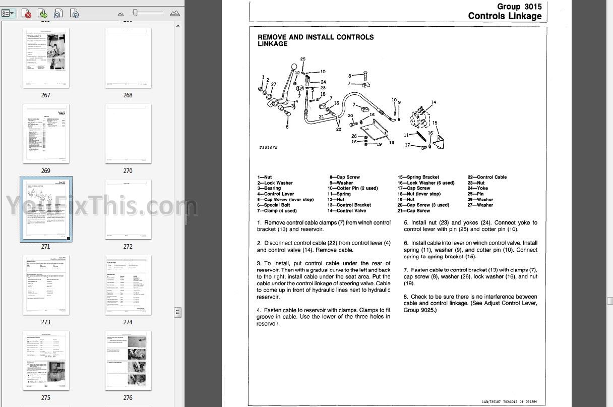 john deere 400g repair manual  crawler bulldozer   u00ab youfixthis