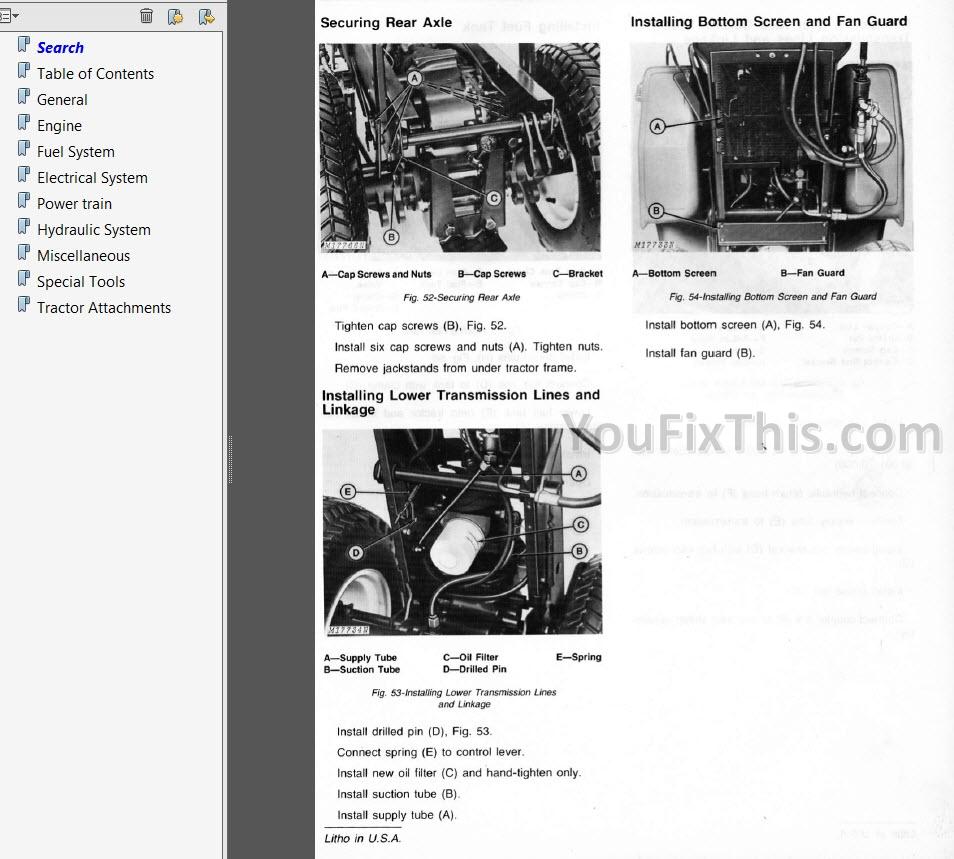 John Deere 400 Repair Manual  Hydrostatic Tractor   U00ab Youfixthis