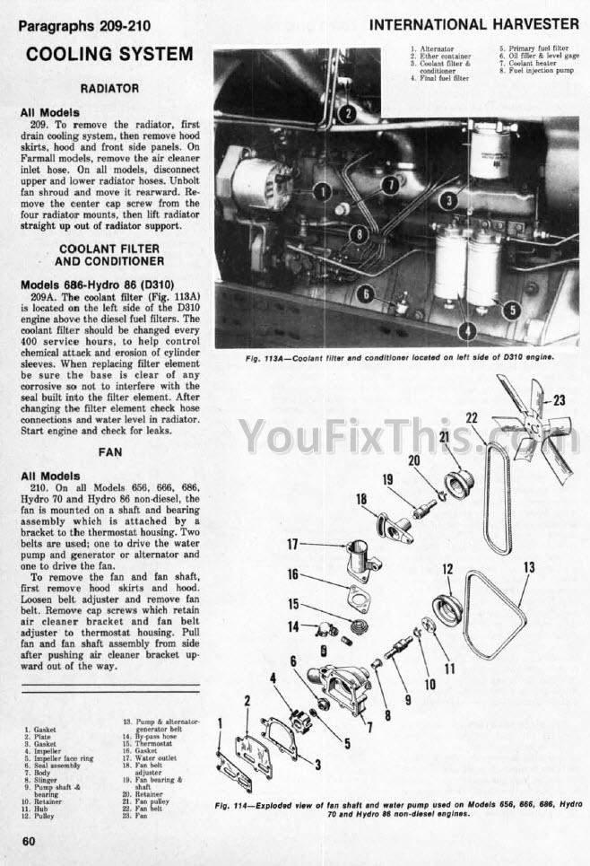 IH International 666 686 HYDRO 70 / 86 Shop Manual [Tractor