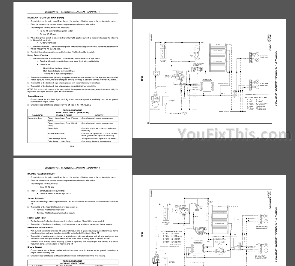 New Holland T2210 T2220 Boomer 2030 2035 Repair Manual