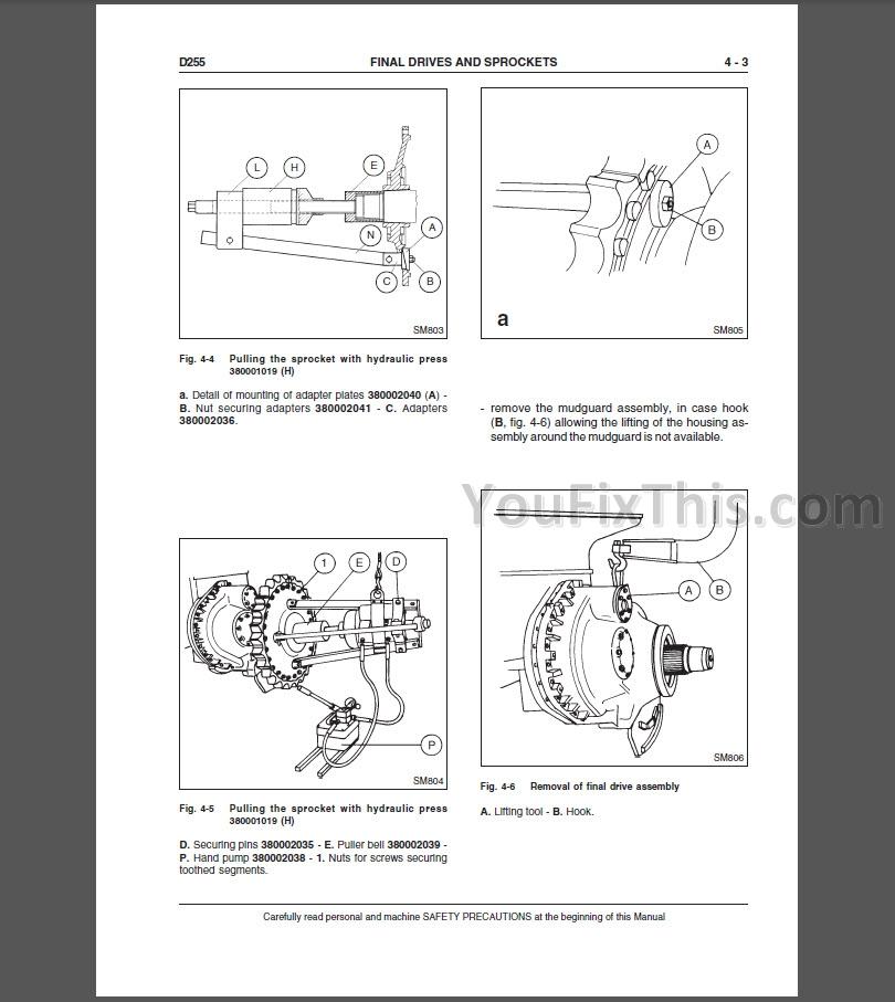 New Holland D255 Repair Manual [Crawler Dozer] « YouFixThis