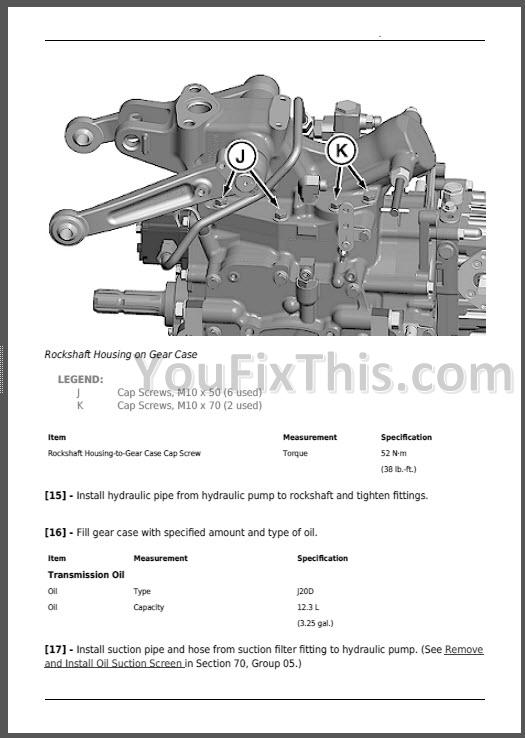 John Deere 1023e 1025r 1026r Repair Manual  Compact Utility Tractors   U00ab Youfixthis