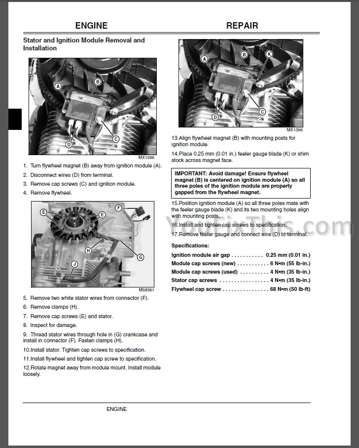 John Deere L100 L108 L110 L111 L118 L120 L130 Repair Manual [Lawn ...