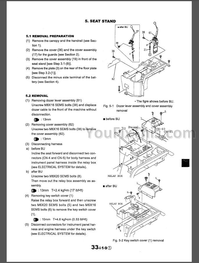 Kobelco SK30SR-2 SK35SR-2 Repair & Parts Manual [Excavator