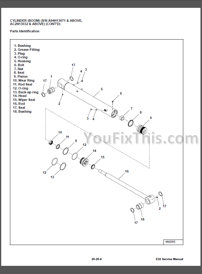 Bobcat E32 Repair Manual  Compact Excavator   U00ab Youfixthis