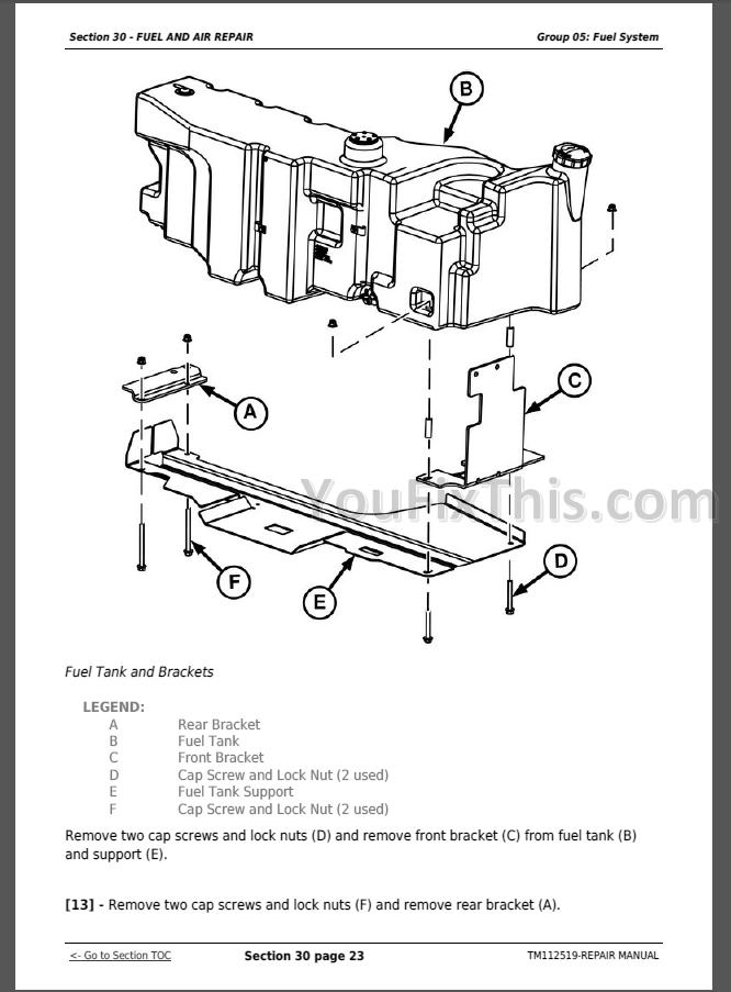 John Deere E E Limited Repair Manual