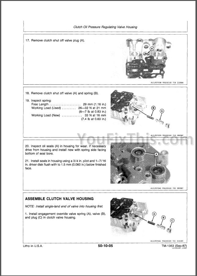 John Deere 4050 4250 4450 Technical Repair Manual  Tractors   U00ab Youfixthis